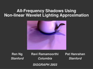 All-Frequency Shadows Using  Non-linear Wavelet Lighting Approximation