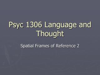 Psyc  1306 Language and Thought