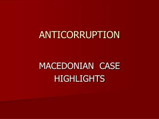 ANTICORRUPTION