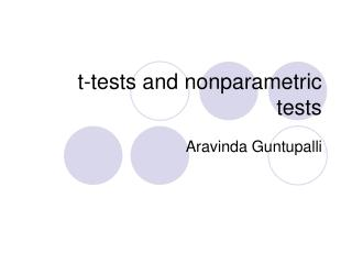 t-tests and nonparametric tests