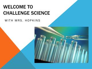 Welcome to  Challenge Science