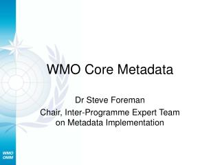 WMO Core Metadata