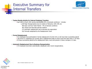 Executive Summary for Internal Transfers