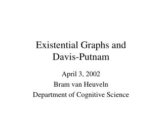 Existential Graphs and  Davis-Putnam