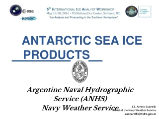 ANTARCTIC SEA ICE PRODUCTS