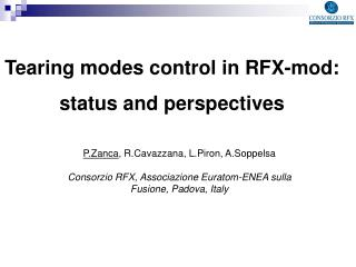 Tearing modes control in RFX-mod:  status and perspectives