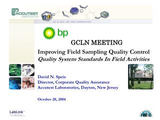 Improving Field Sampling Quality Control  Quality System Standards In Field Activities