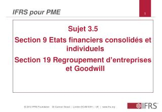 IFRS pour PME