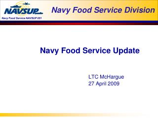 Navy Food Service Division