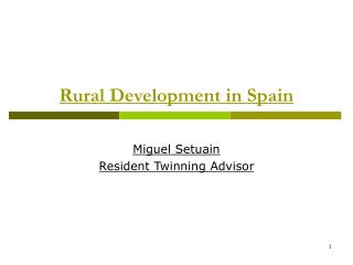 Rural Development in Spain