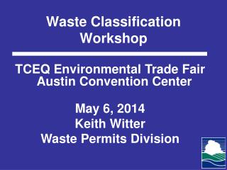 Waste Classification Workshop