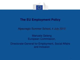 The EU Employment Policy