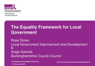 The Equality Framework for Local Government