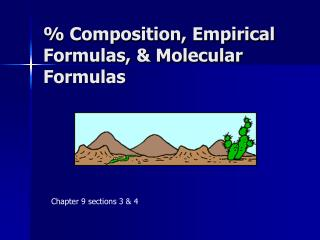 % Composition, Empirical Formulas, & Molecular Formulas