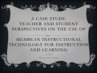 Using Technology in Teaching  Learning: A Case Study
