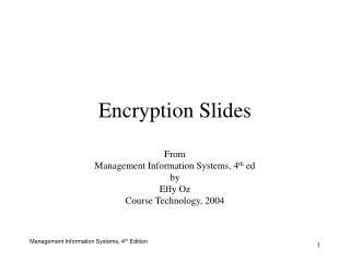 Encryption Slides