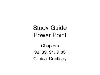 Study Guide  Power Point