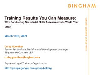 Training Results You Can Measure: Why Conducting Secretarial Skills Assessments Is Worth Your Effort