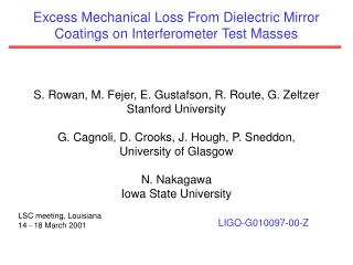 Excess Mechanical Loss From Dielectric Mirror Coatings on Interferometer Test Masses