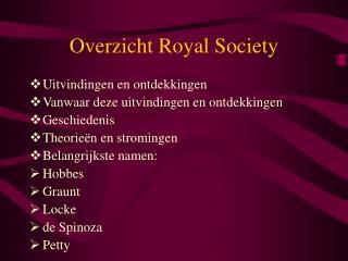 Overzicht Royal Society