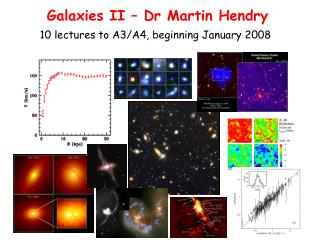 Galaxies II – Dr Martin Hendry