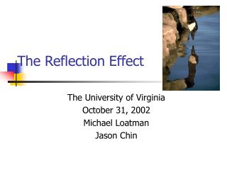 The Reflection Effect