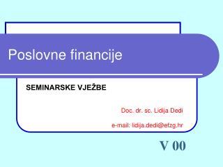 Poslovne financije