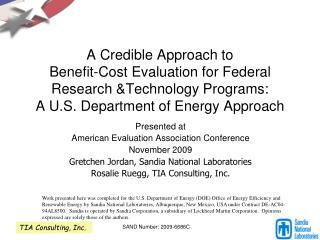 Presented at American Evaluation Association Conference November 2009