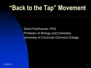 """Back to the Tap"" Movement"
