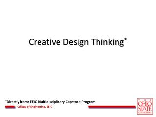 Creative Design Thinking *