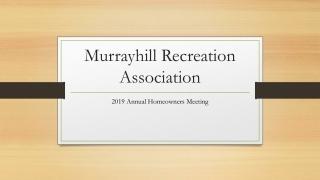 Murrayhill Recreation Association