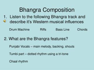 Bhangra Composition