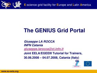 The GENIUS Grid Portal