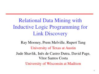 Relational Data Mining with Inductive Logic Programming for Link Discovery