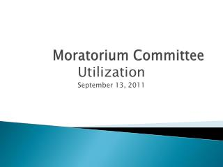 Moratorium Committee