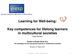Learning for Well-being:   Key competences for lifelong learners in multicultural societies