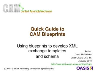 Quick Guide to  CAM Blueprints