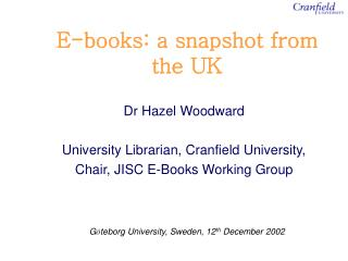 E-books: a snapshot from the UK