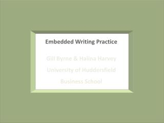 Embedded Writing Practice