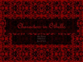 Characters in Othello