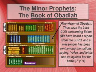 The  Minor Prophets : The  Book of Obadiah