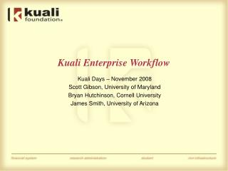 Kuali Enterprise Workflow