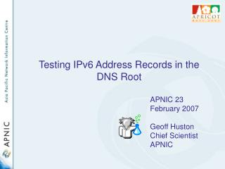 Testing IPv6 Address Records in the DNS Root