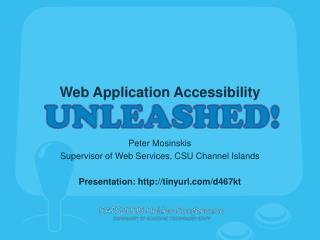 Web Application Accessibility Unleashed!