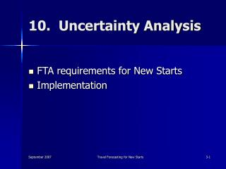 10.  Uncertainty Analysis