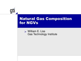 Natural Gas Composition for NGVs