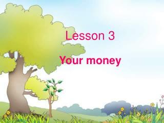 Lesson 3 Your money