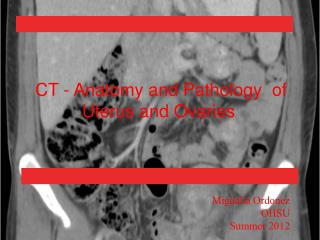 CT - Anatomy and Pathology  of Uterus and Ovaries