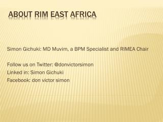 About RIM East Africa