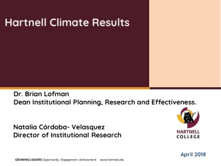 Hartnell Climate Results